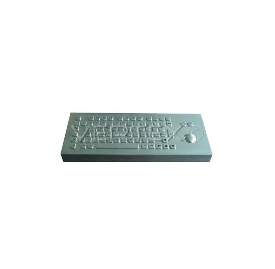 IP65 Desk Industrial Keyboard Stainless Steel - Trackball