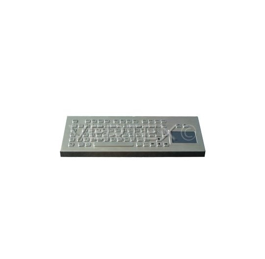 IP65 Desk Industrial Keyboard Stainless Steel - Touchpad